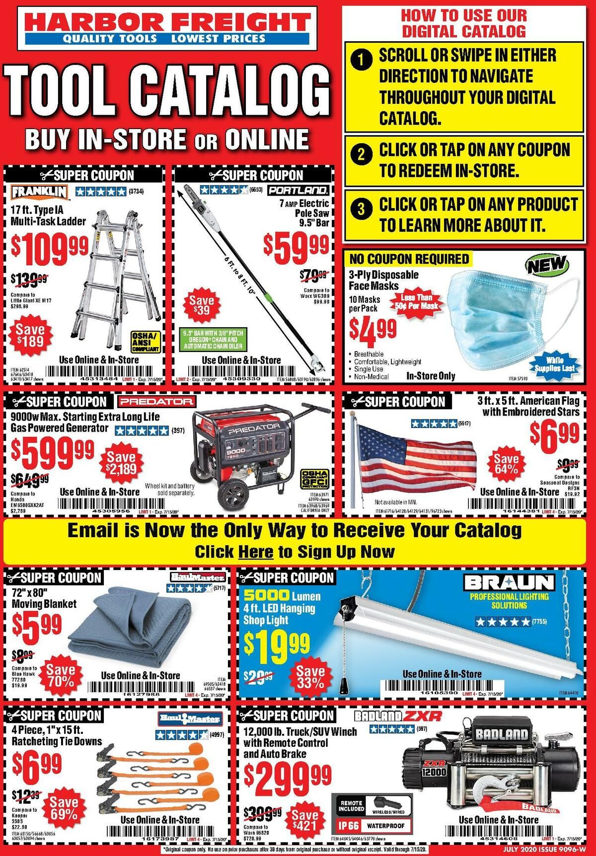 Harbor Freight Tools Weekly Ad from July 1