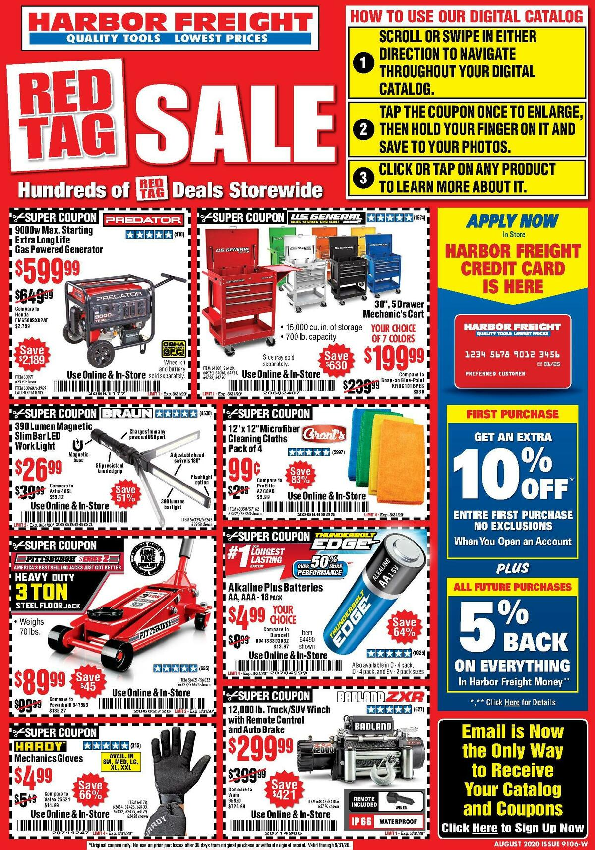 Harbor Freight Tools Weekly Ad from August 1