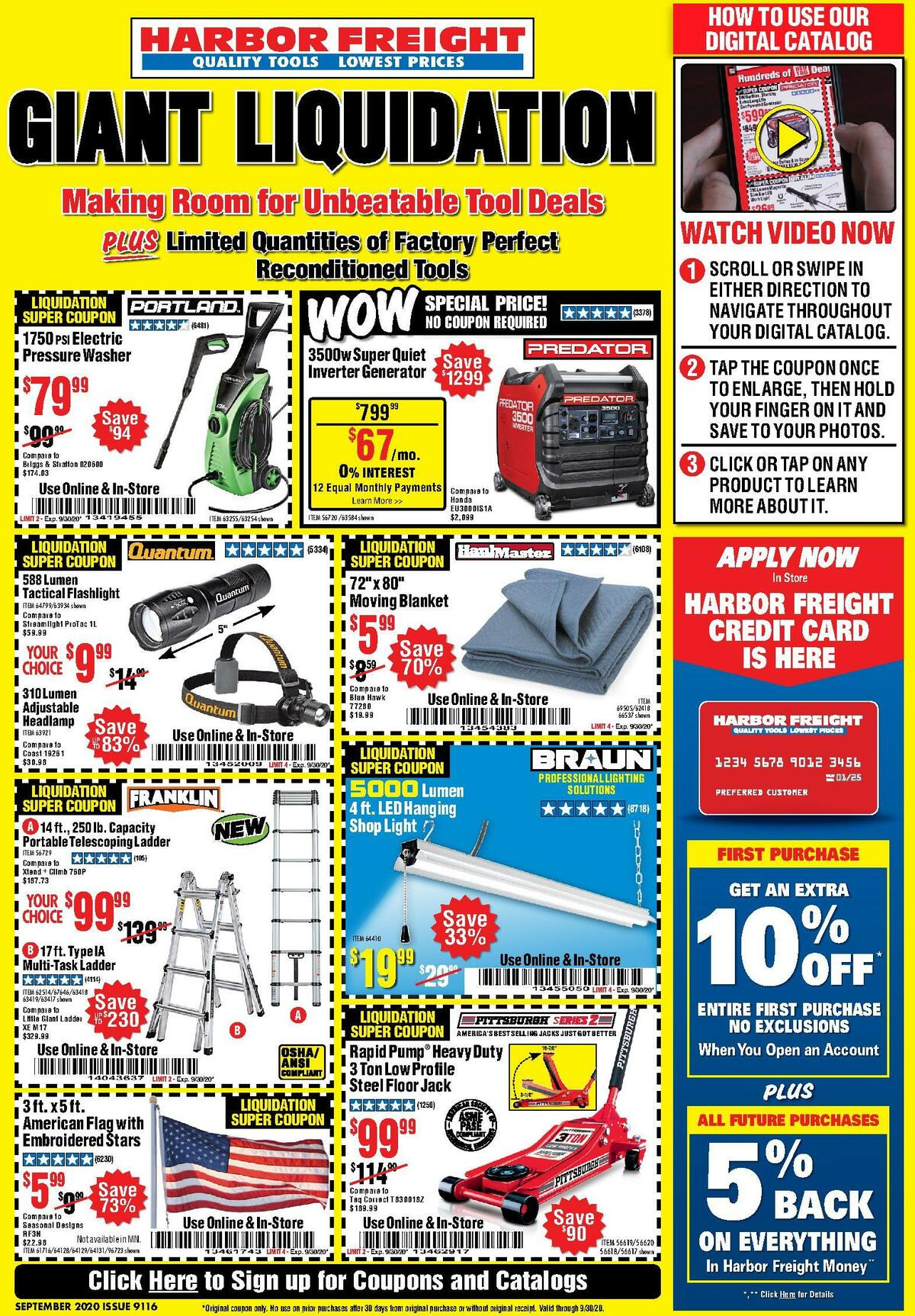 Harbor Freight Tools Weekly Ad from September 1