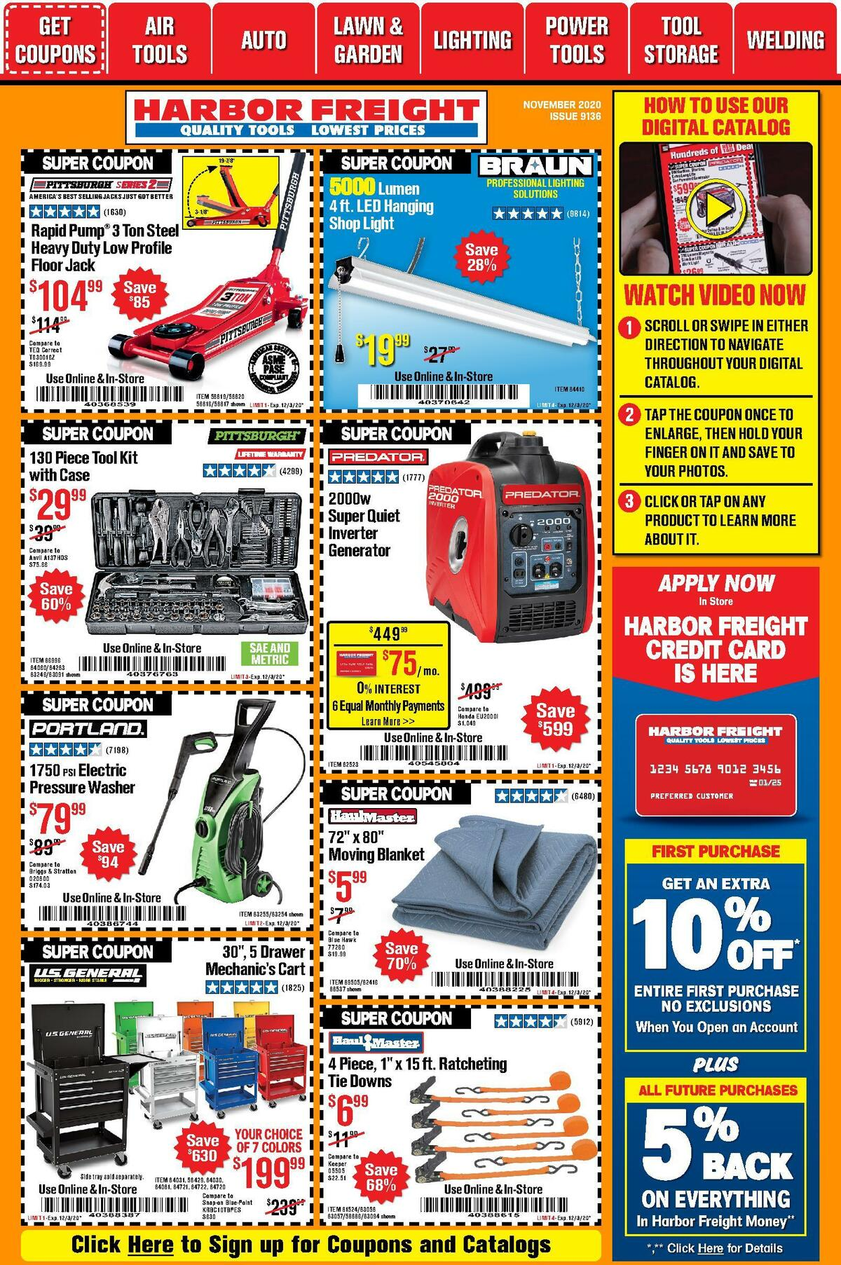Harbor Freight Tools Weekly Ad from November 1