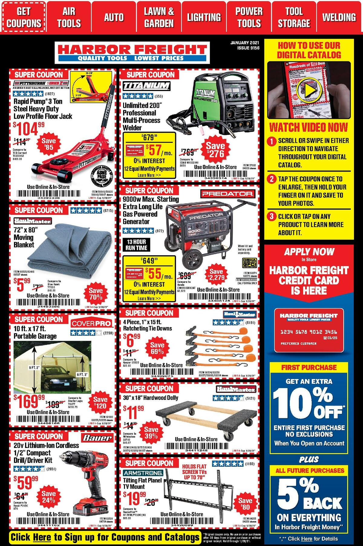 Harbor Freight Tools Weekly Ad from January 1