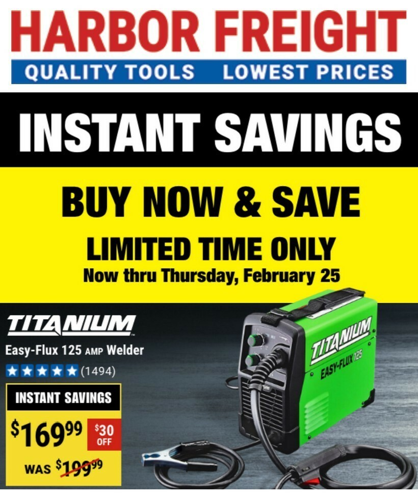 Harbor Freight Tools Weekly Ad from February 12