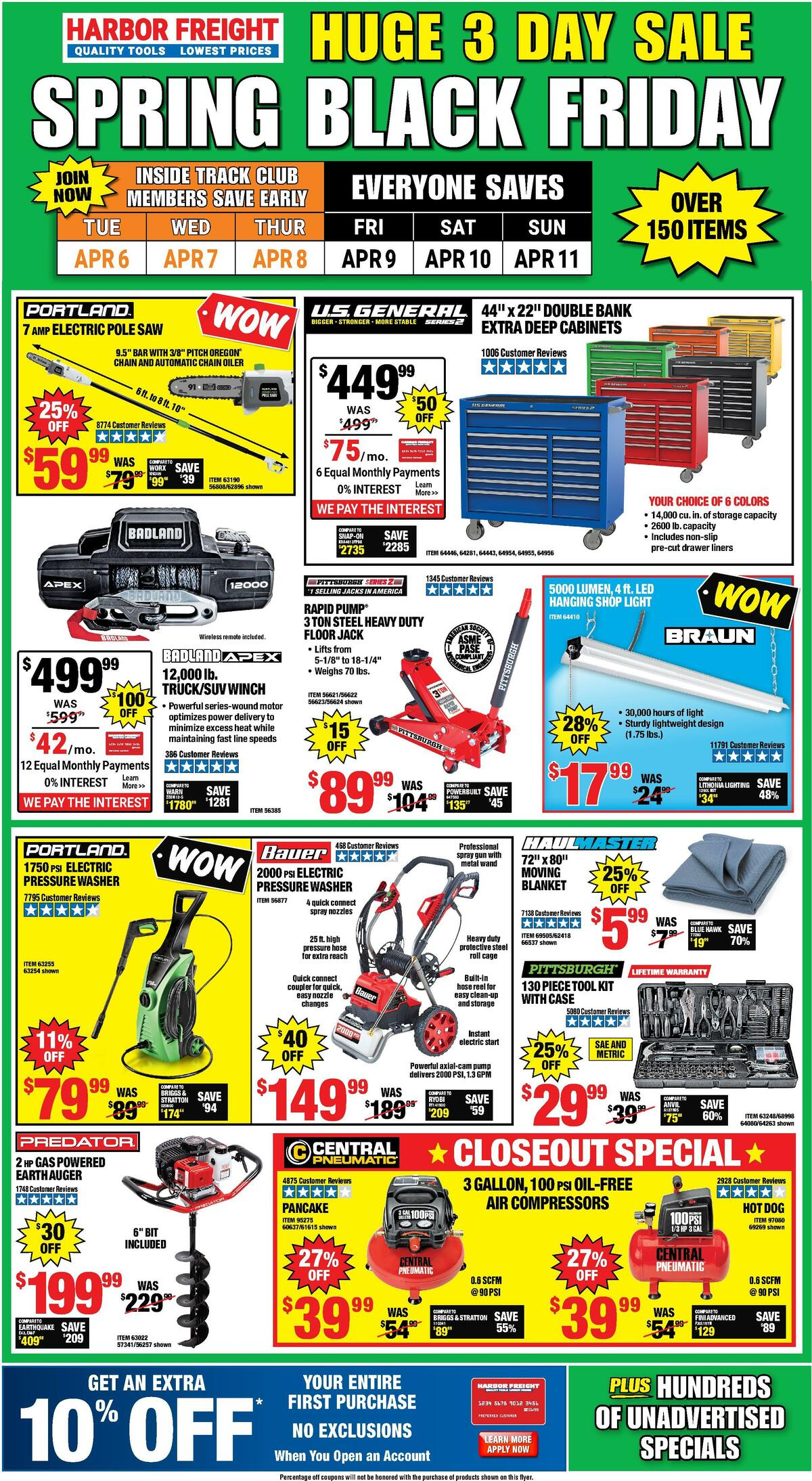 Harbor Freight Tools Weekly Ad from April 6