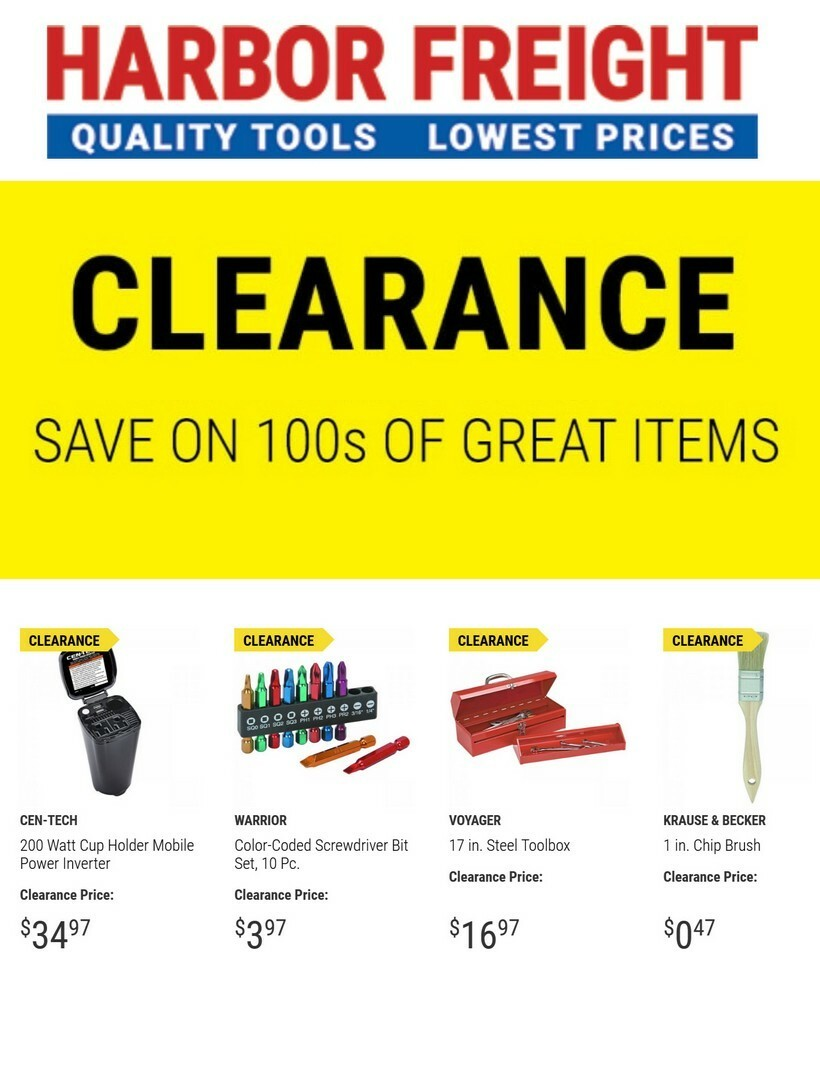 Harbor Freight Tools Weekly Ad from April 22