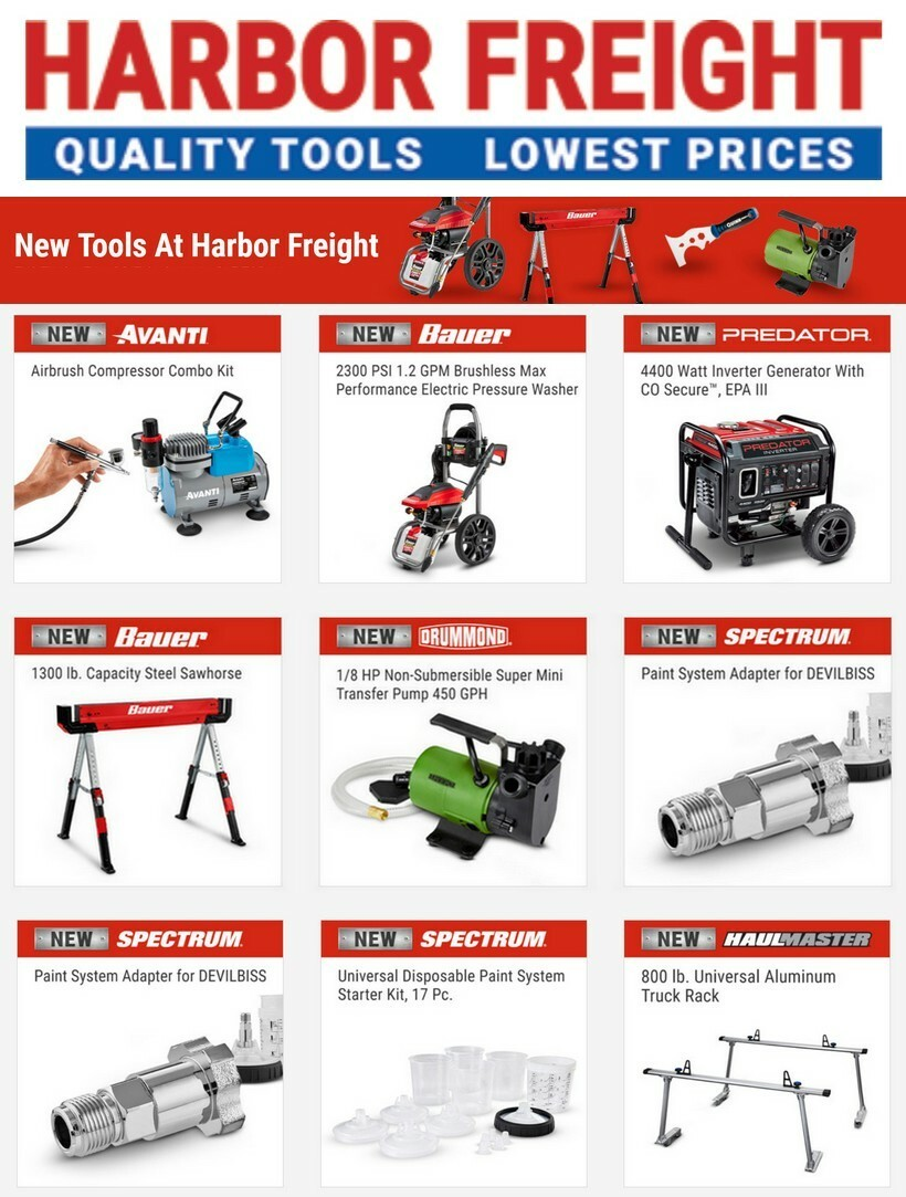 Harbor Freight Tools New Tools Weekly Ad from May 28