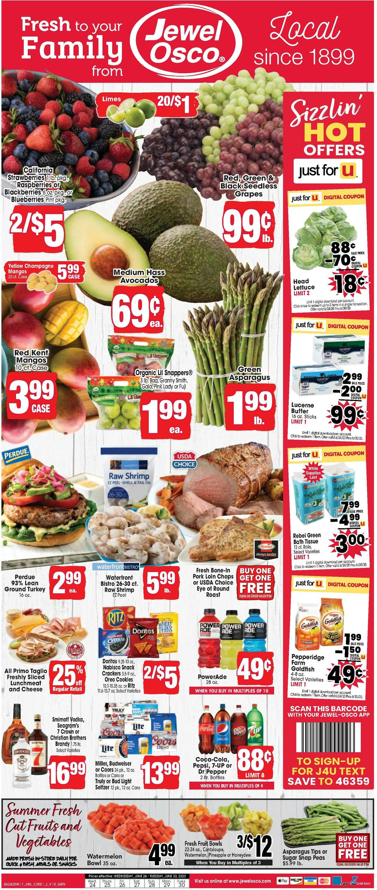 Jewel Osco Weekly Ad from June 24