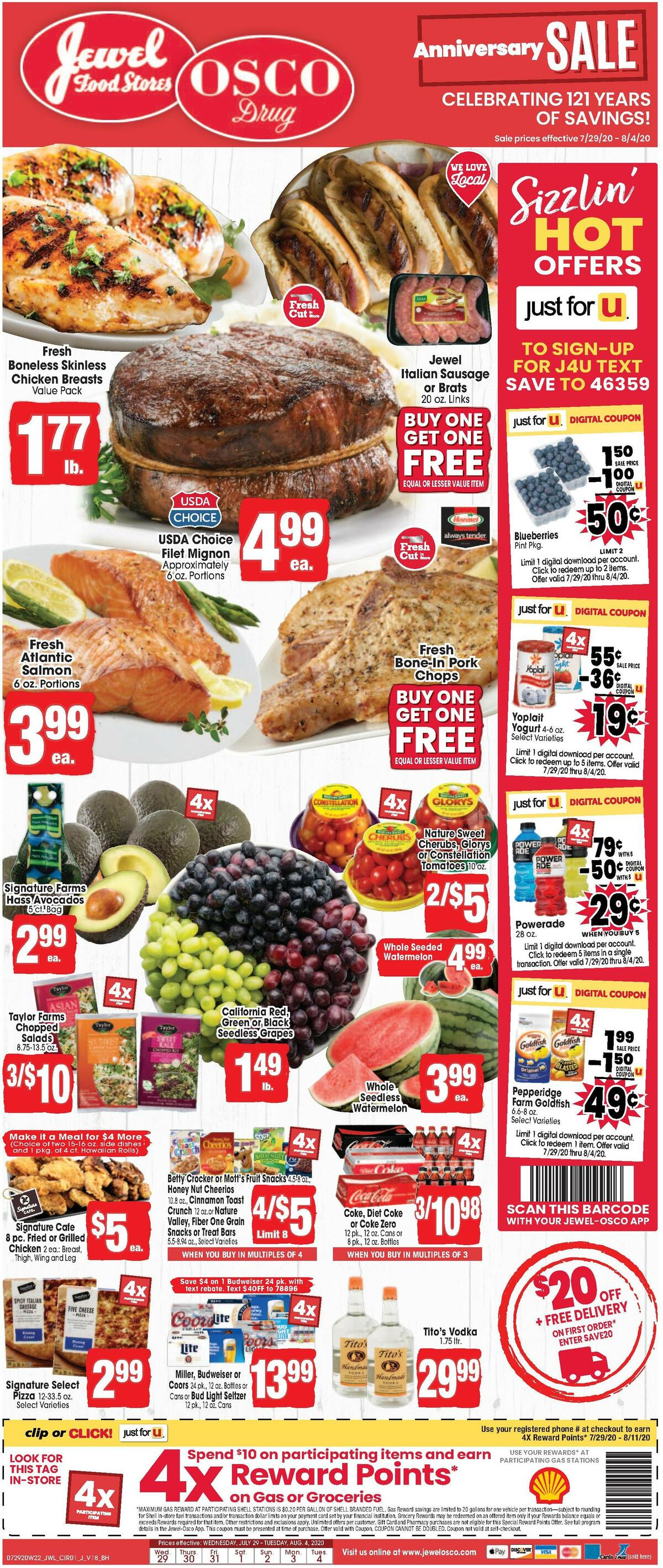 Jewel Osco Weekly Ad from July 29