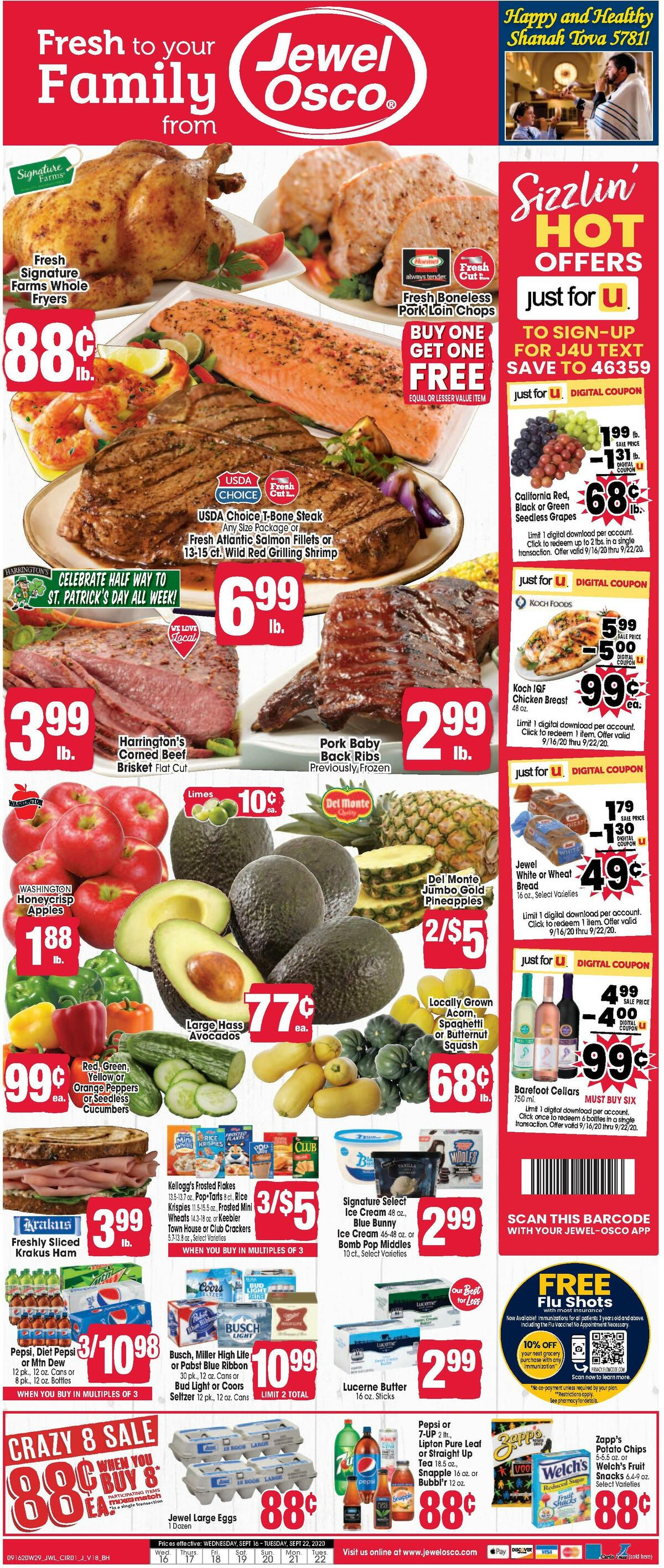 Jewel Osco Weekly Ad from September 16