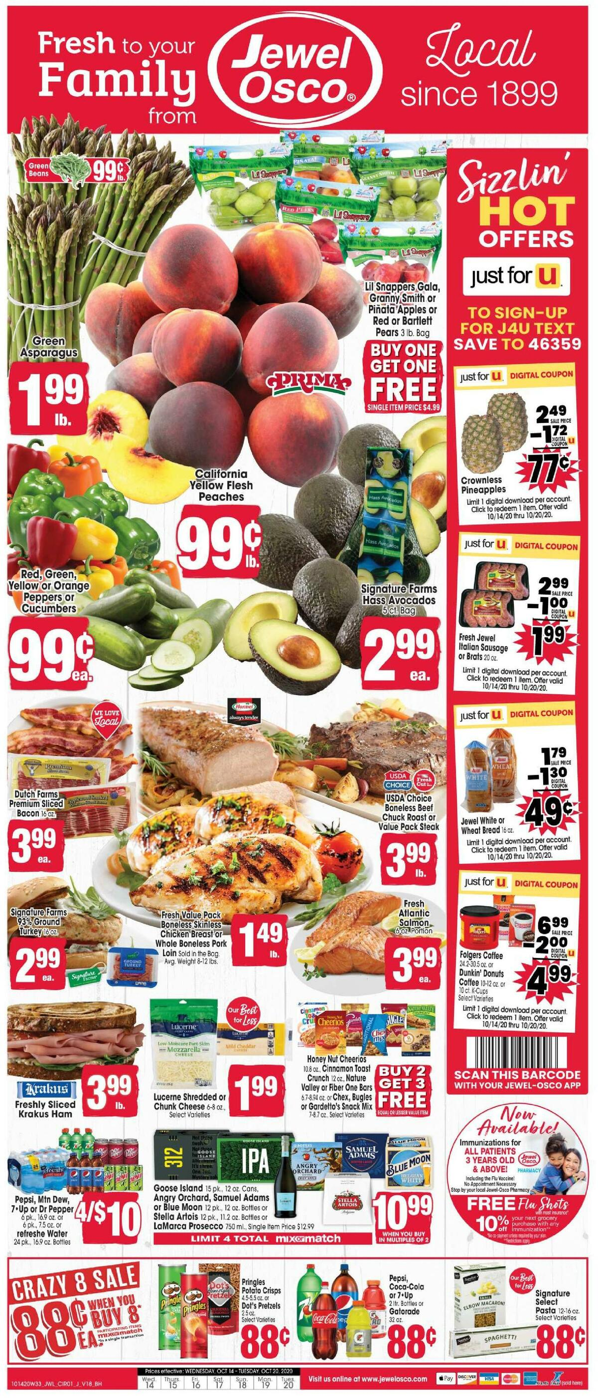 Jewel Osco Weekly Ad from October 14