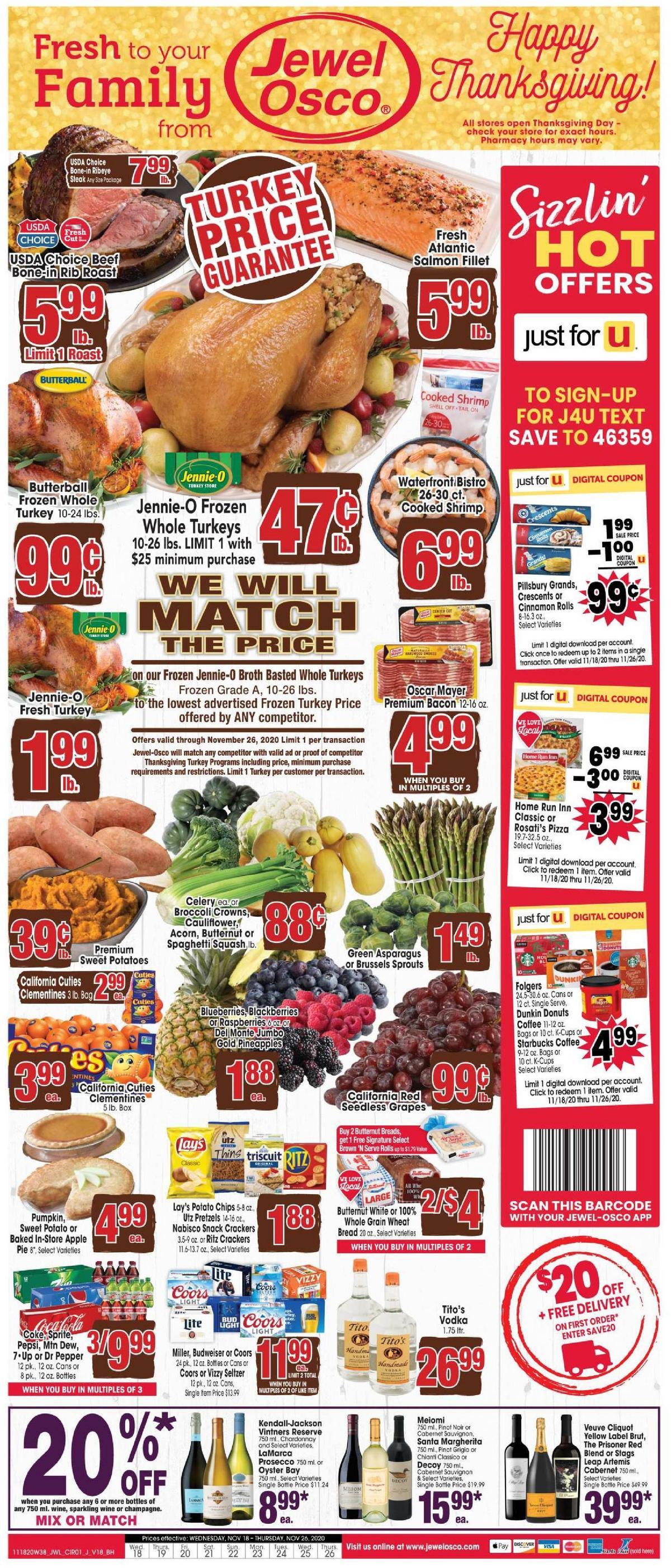 Jewel Osco Weekly Ad from November 18