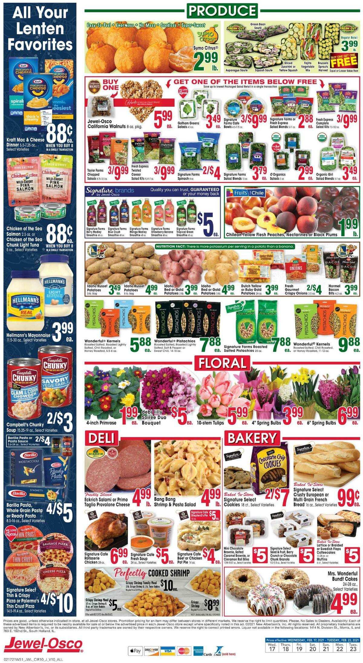 Jewel Osco Weekly Ad from February 17