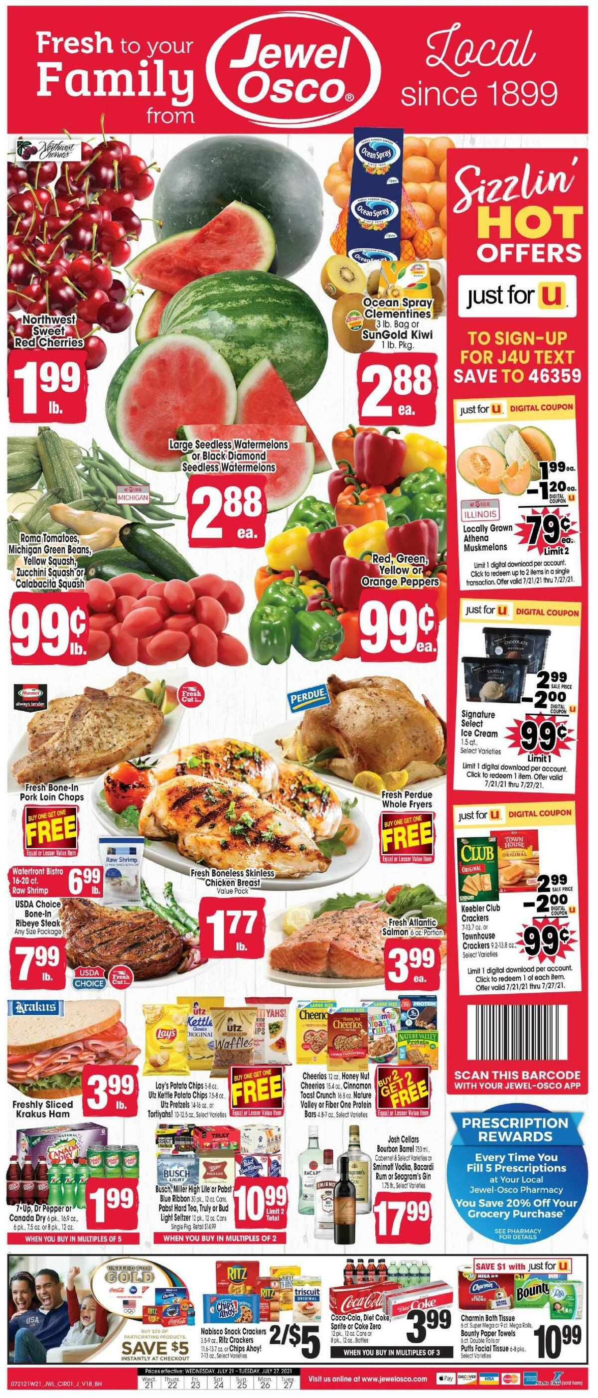 Jewel Osco Weekly Ad from July 21