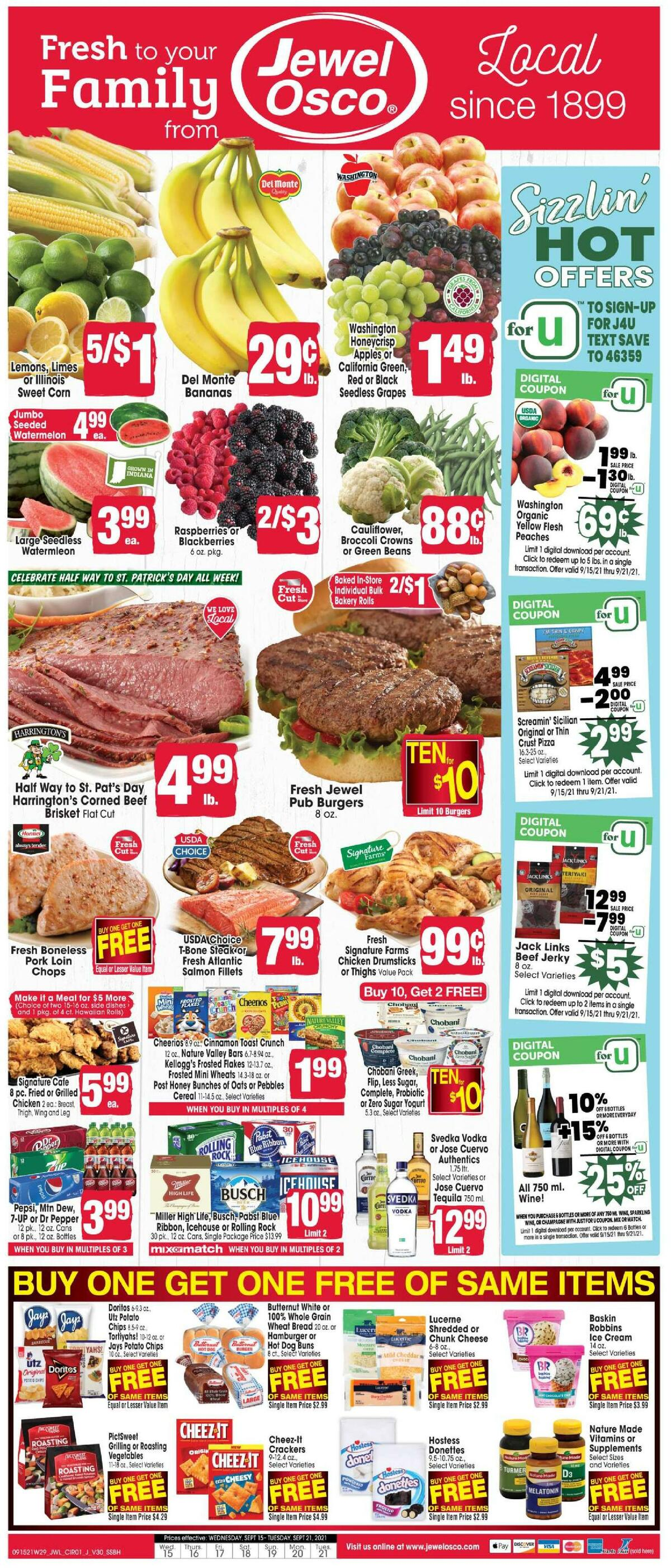 Jewel Osco Weekly Ad from September 15
