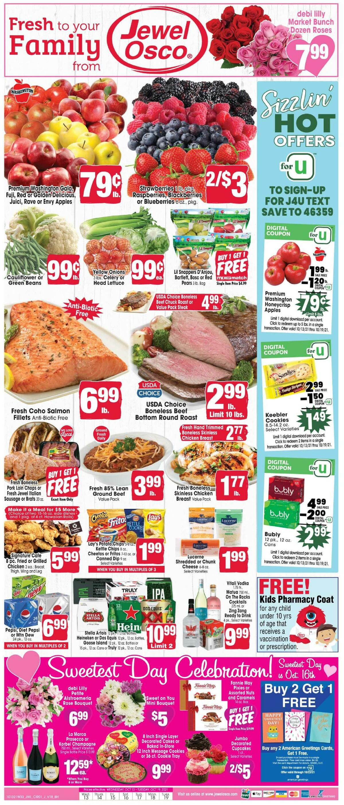 Jewel Osco Weekly Ad from October 13