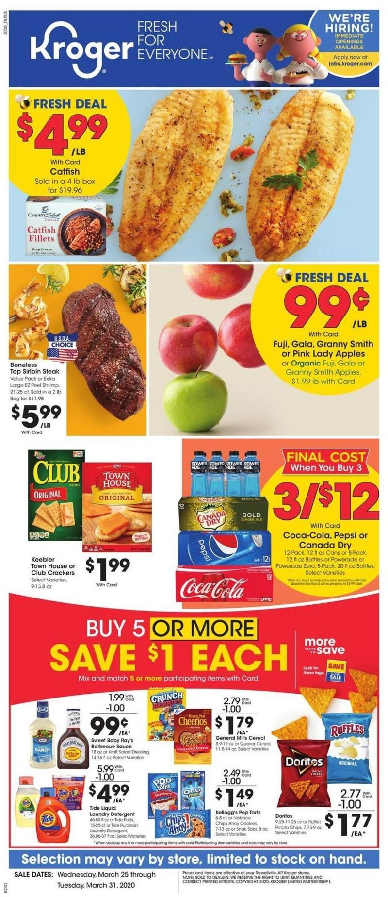 Kroger Weekly Ad from March 25