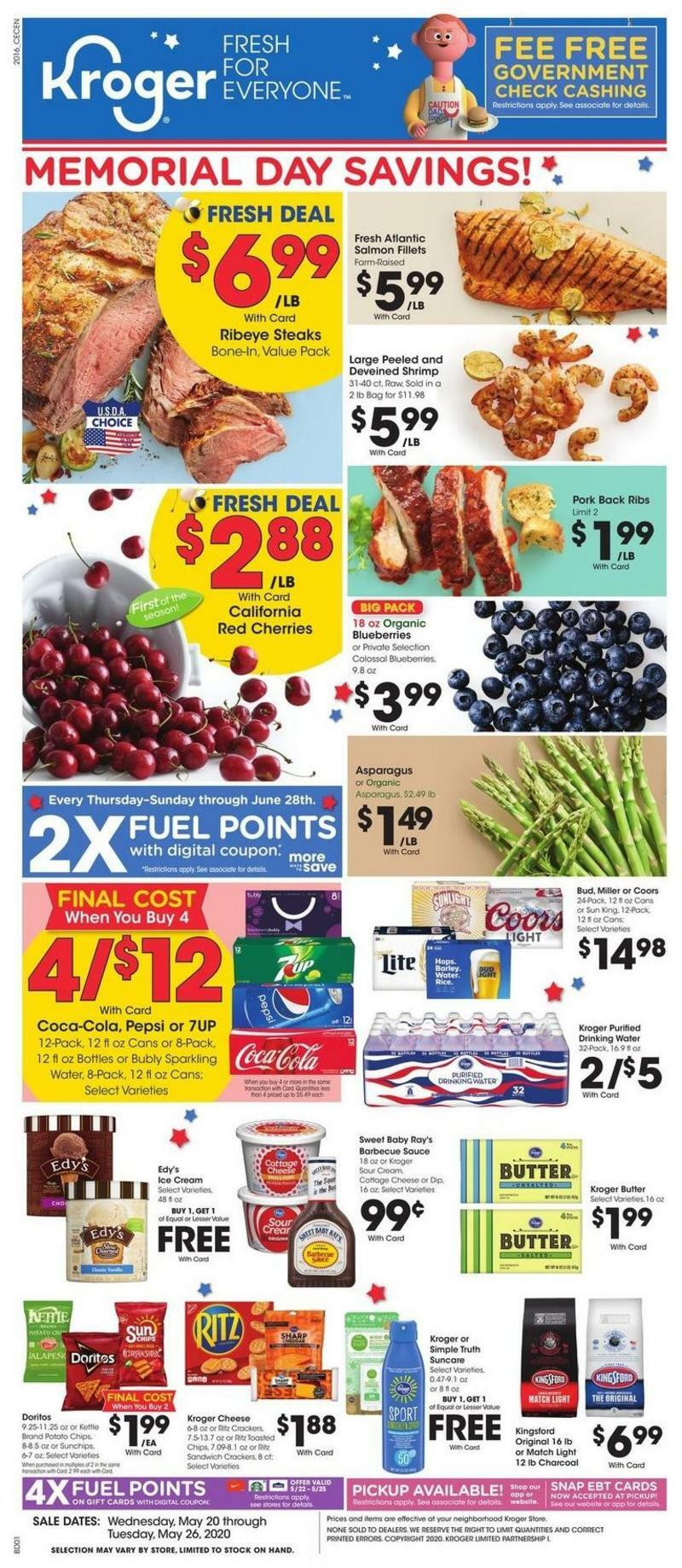 Kroger Weekly Ad from May 20