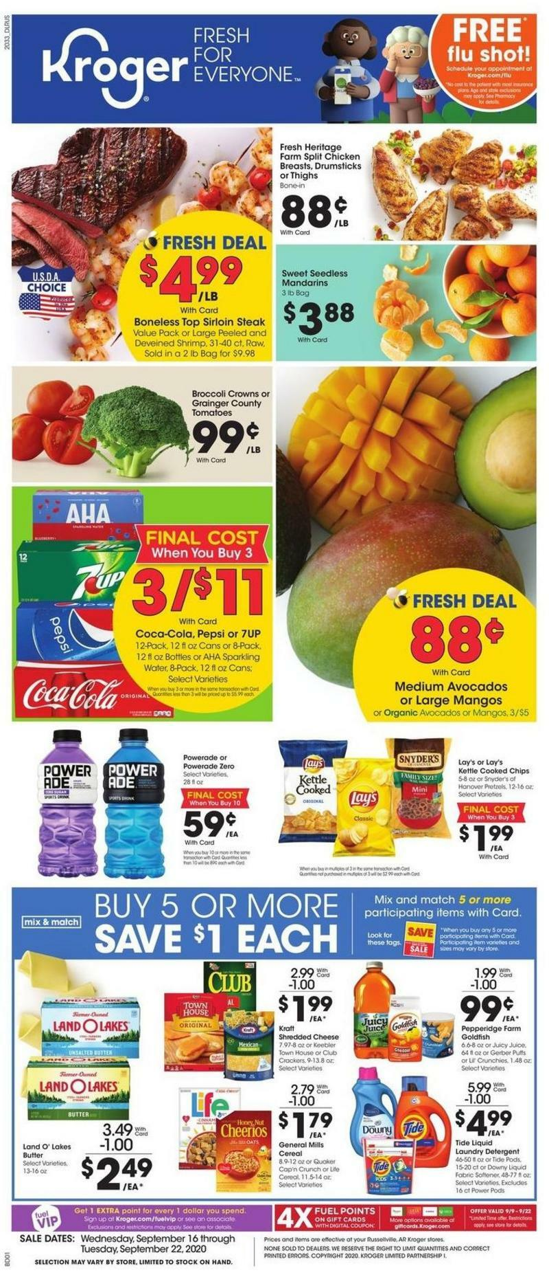 Kroger Weekly Ad from September 16
