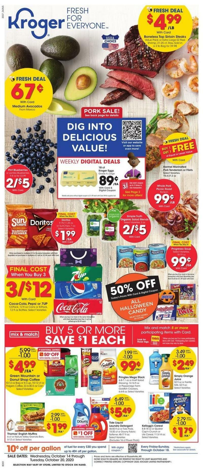 Kroger Weekly Ad from October 14