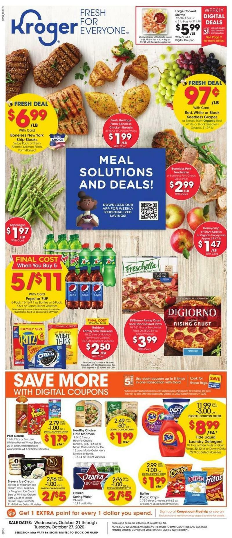 Kroger Weekly Ad from October 21