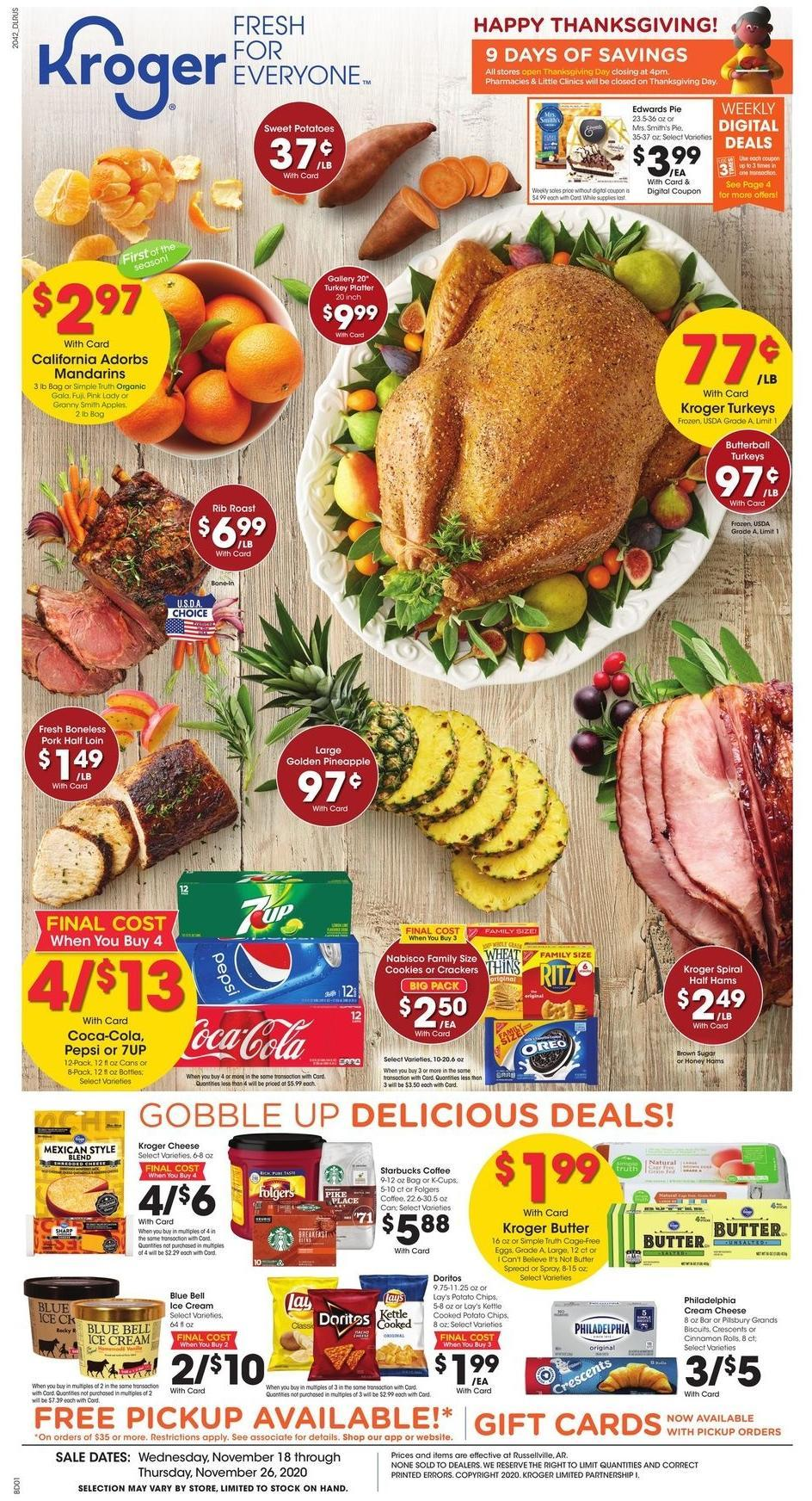Kroger Weekly Ad from November 18