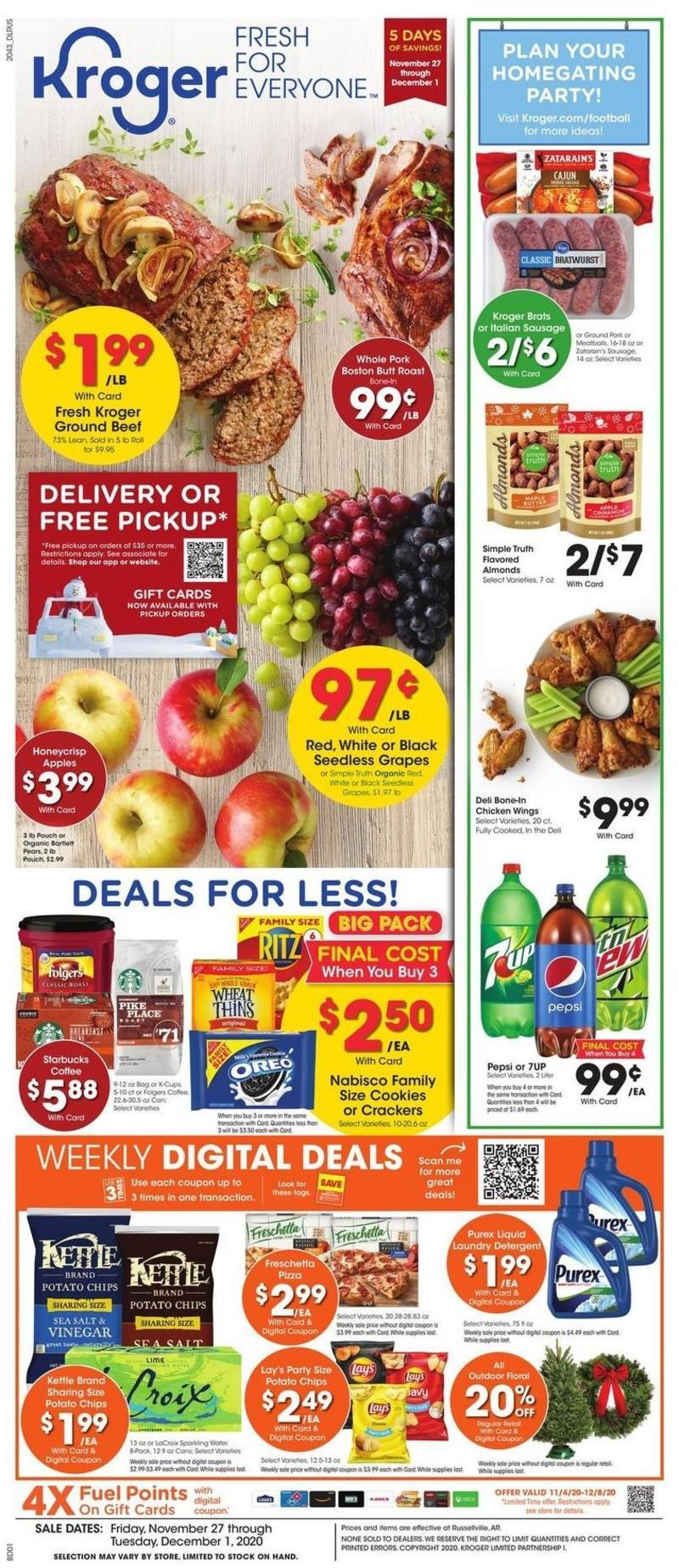 Kroger Weekly Ad from November 27
