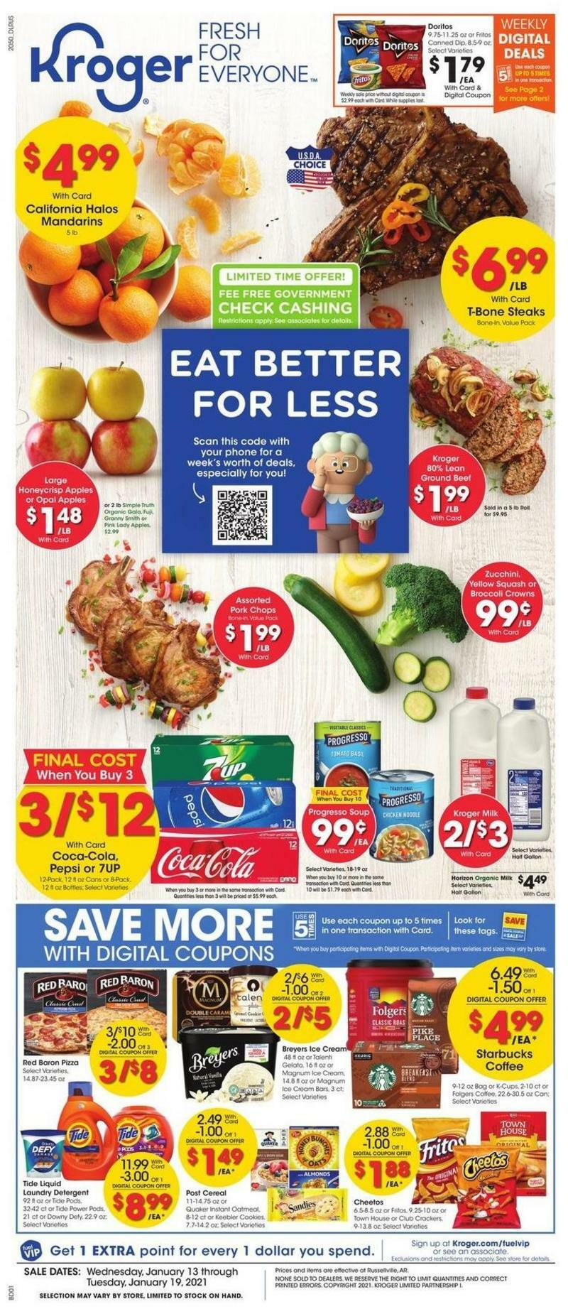 Kroger Weekly Ad from January 13