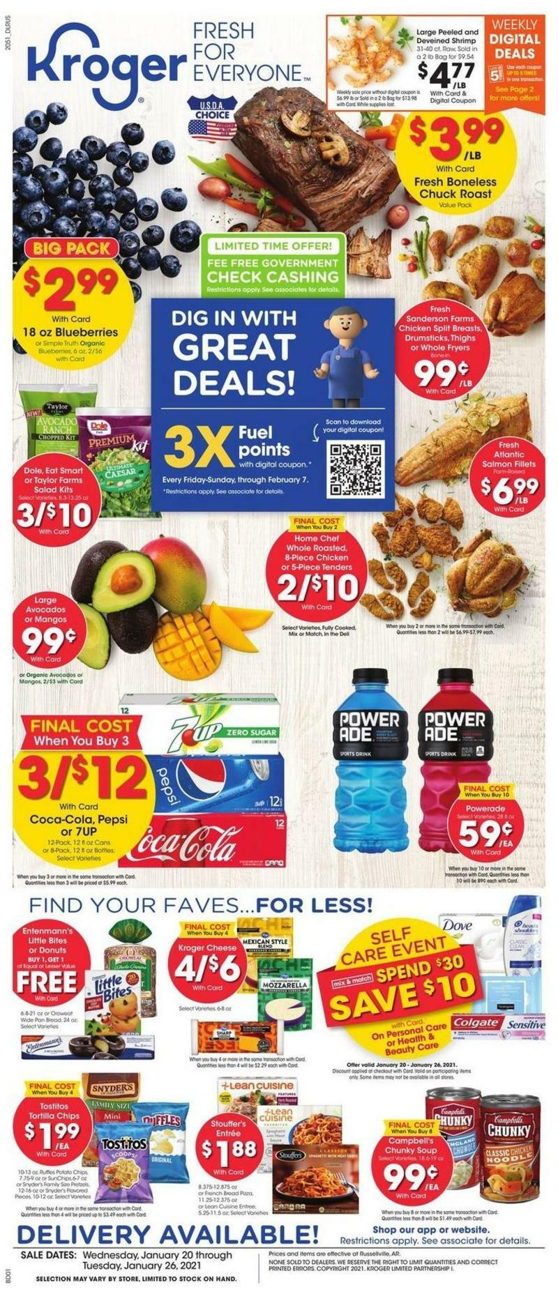 Kroger Weekly Ad from January 20