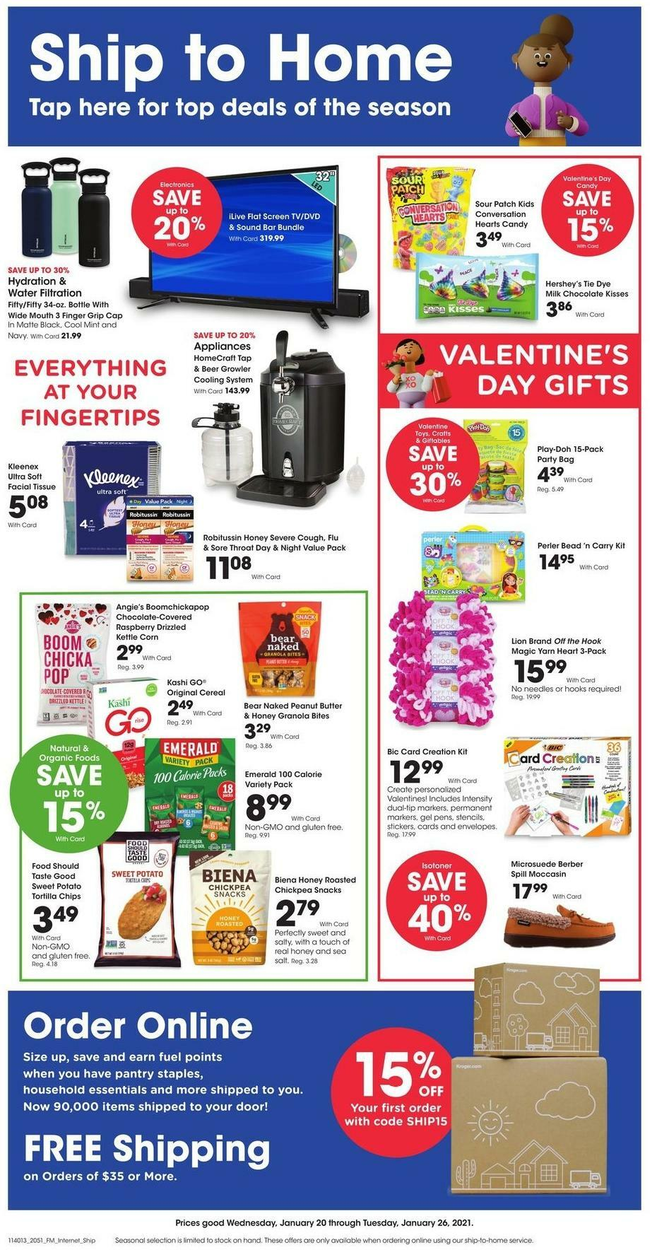 Kroger Ship to Home Weekly Ad from January 20