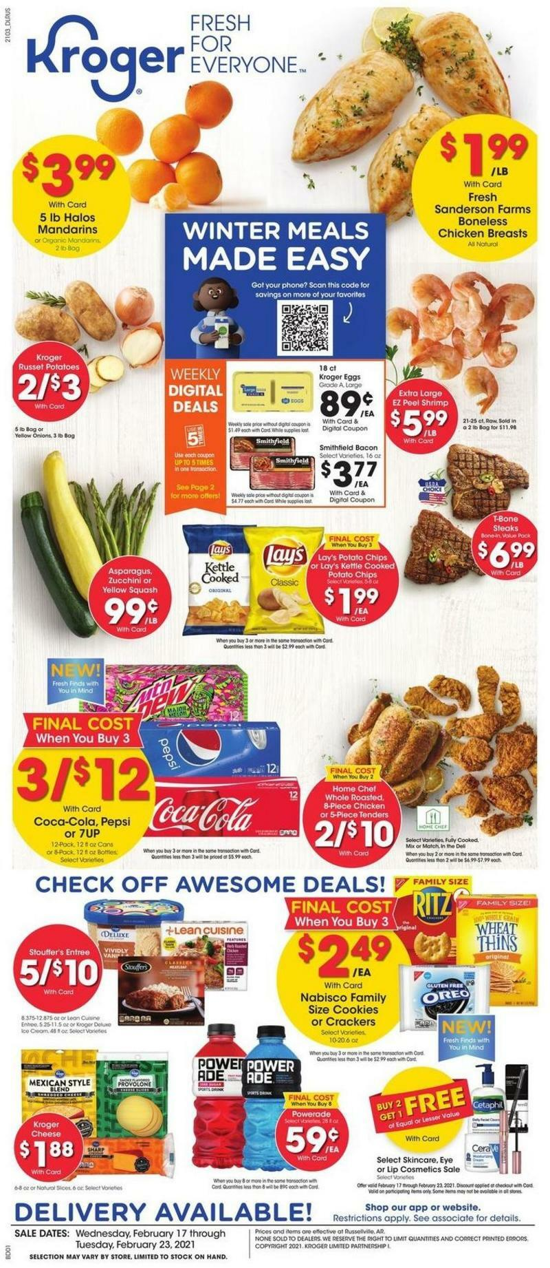 Kroger Weekly Ad from February 17