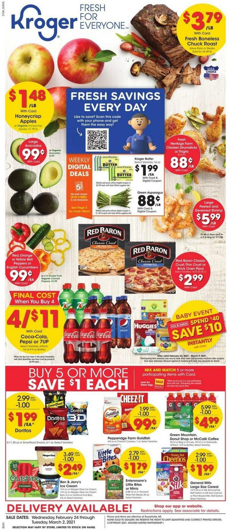 Kroger Weekly Ad from February 24