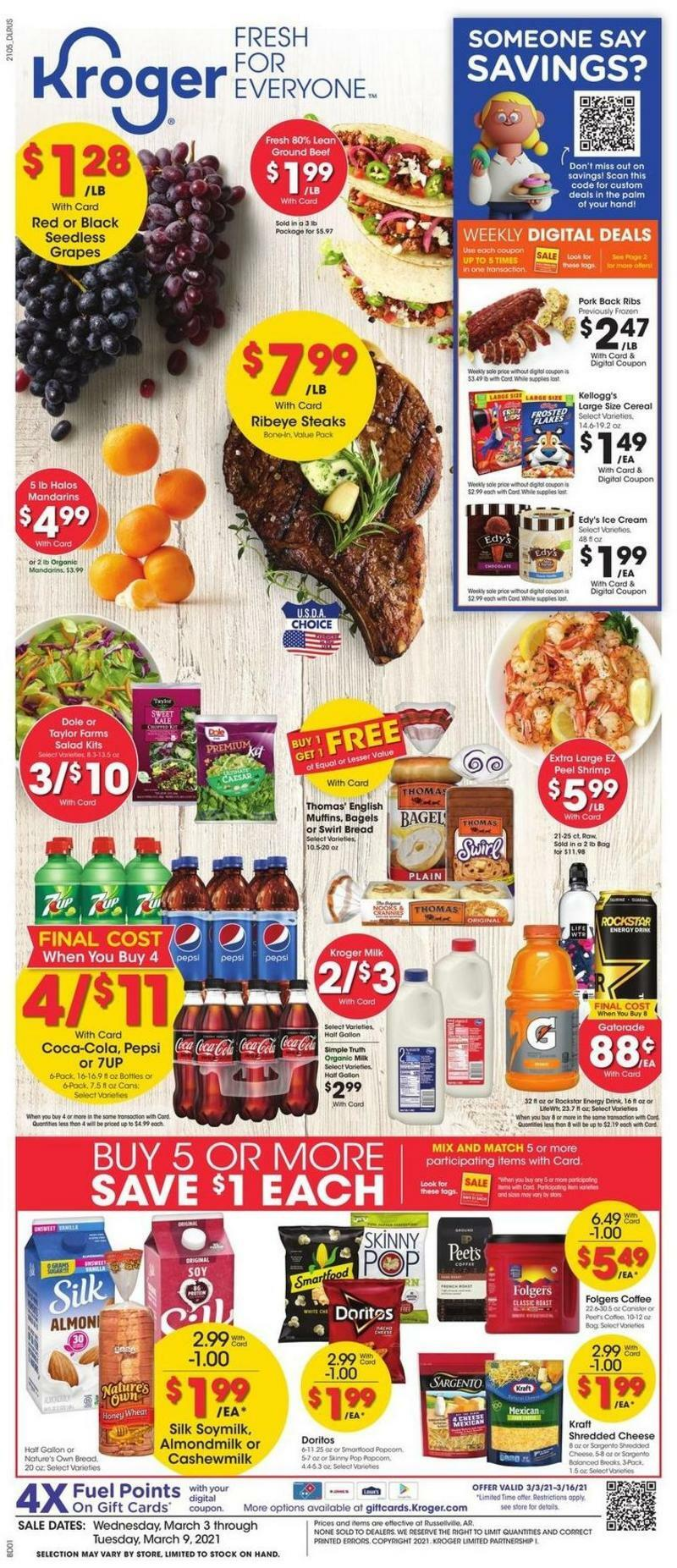 Kroger Weekly Ad from March 3