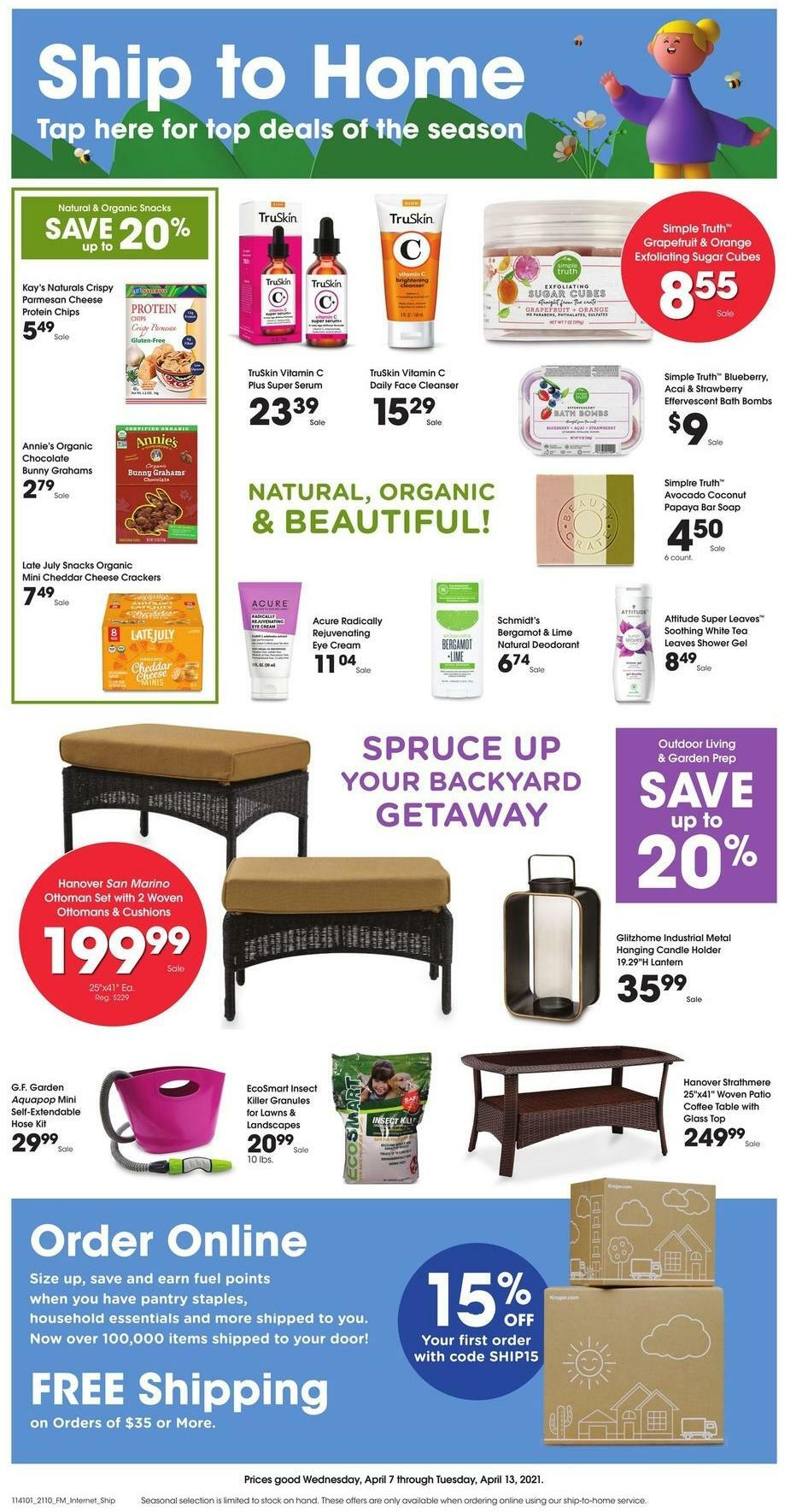 Kroger Ship to Home Weekly Ad from April 7