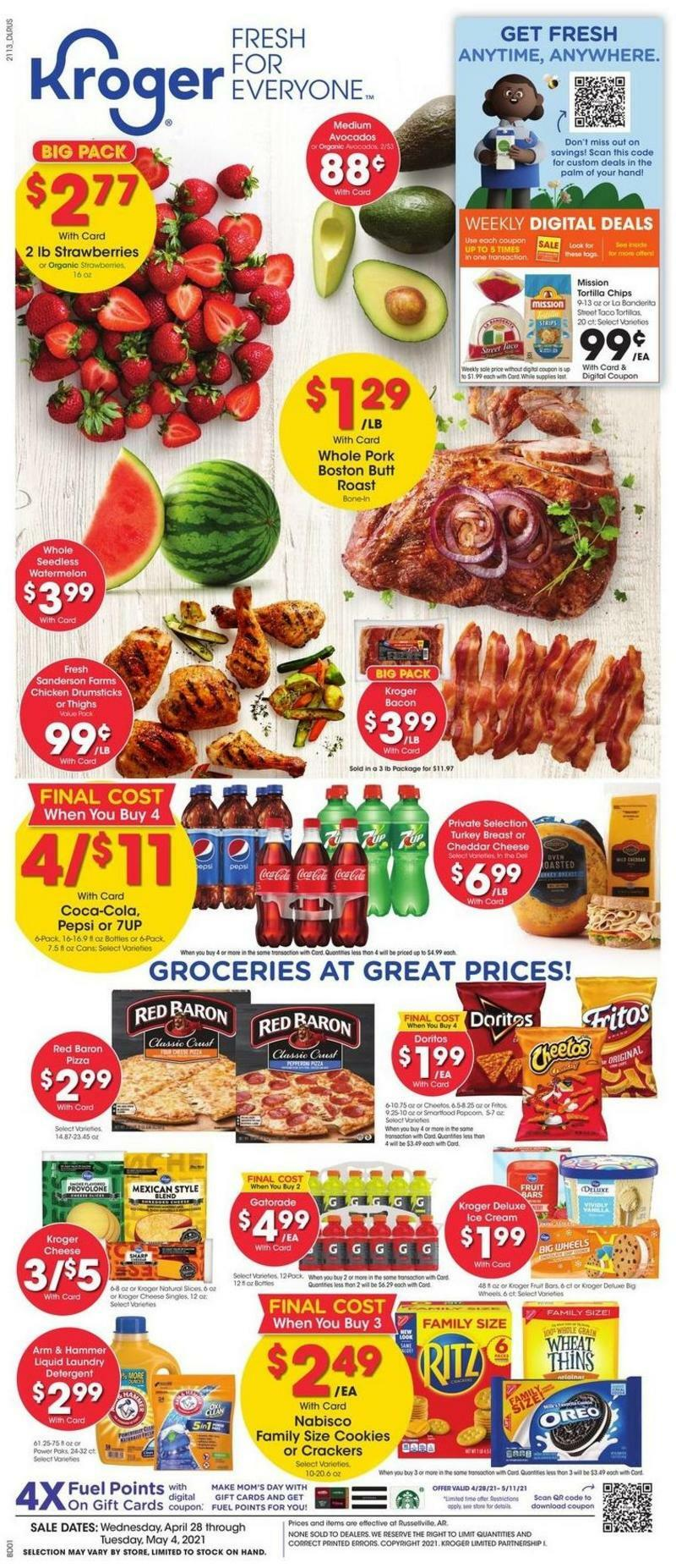 Kroger Weekly Ad from April 28