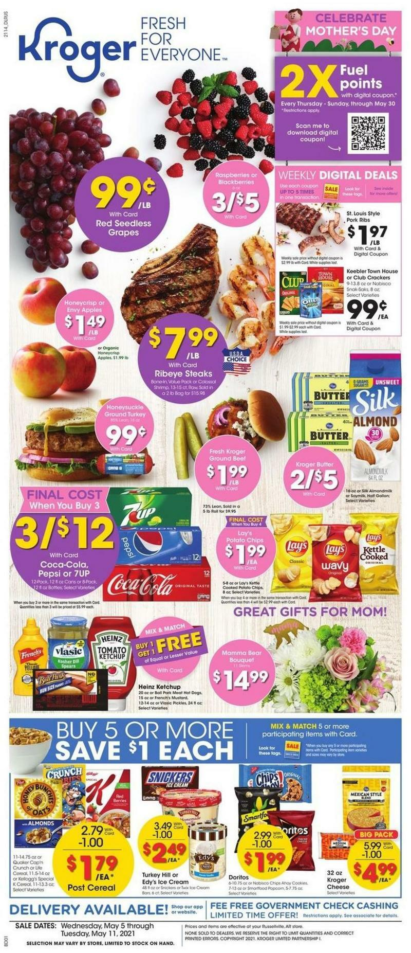 Kroger Weekly Ad from May 5