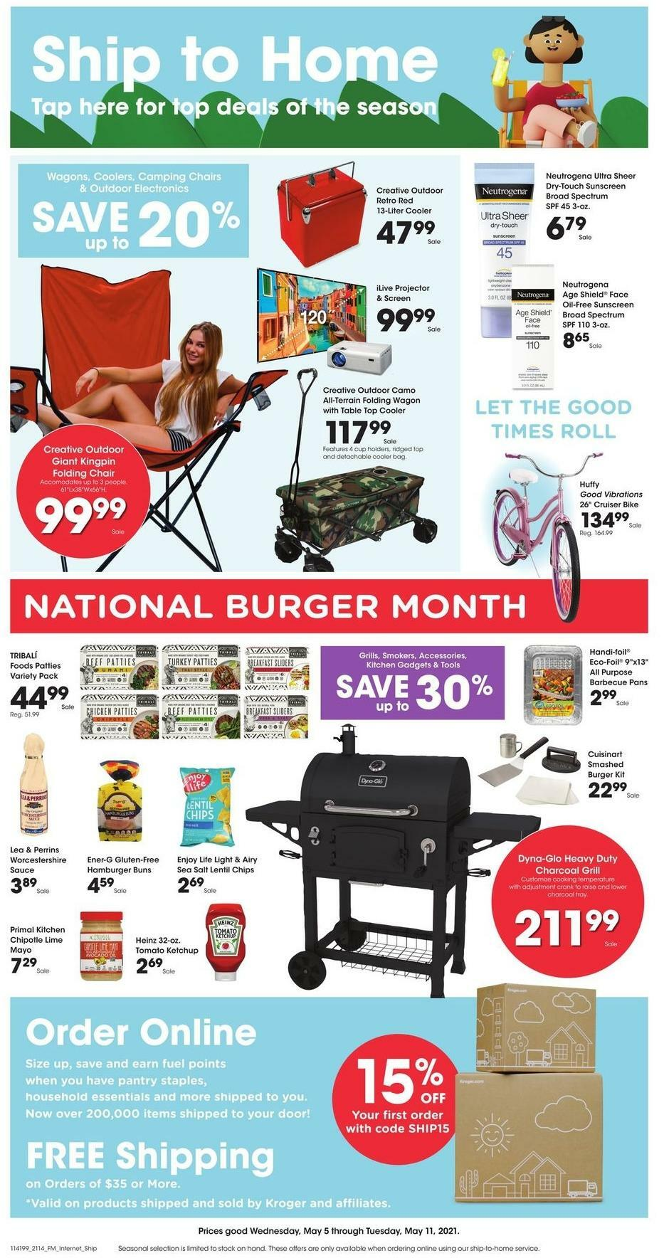 Kroger Ship to Home Weekly Ad from May 5