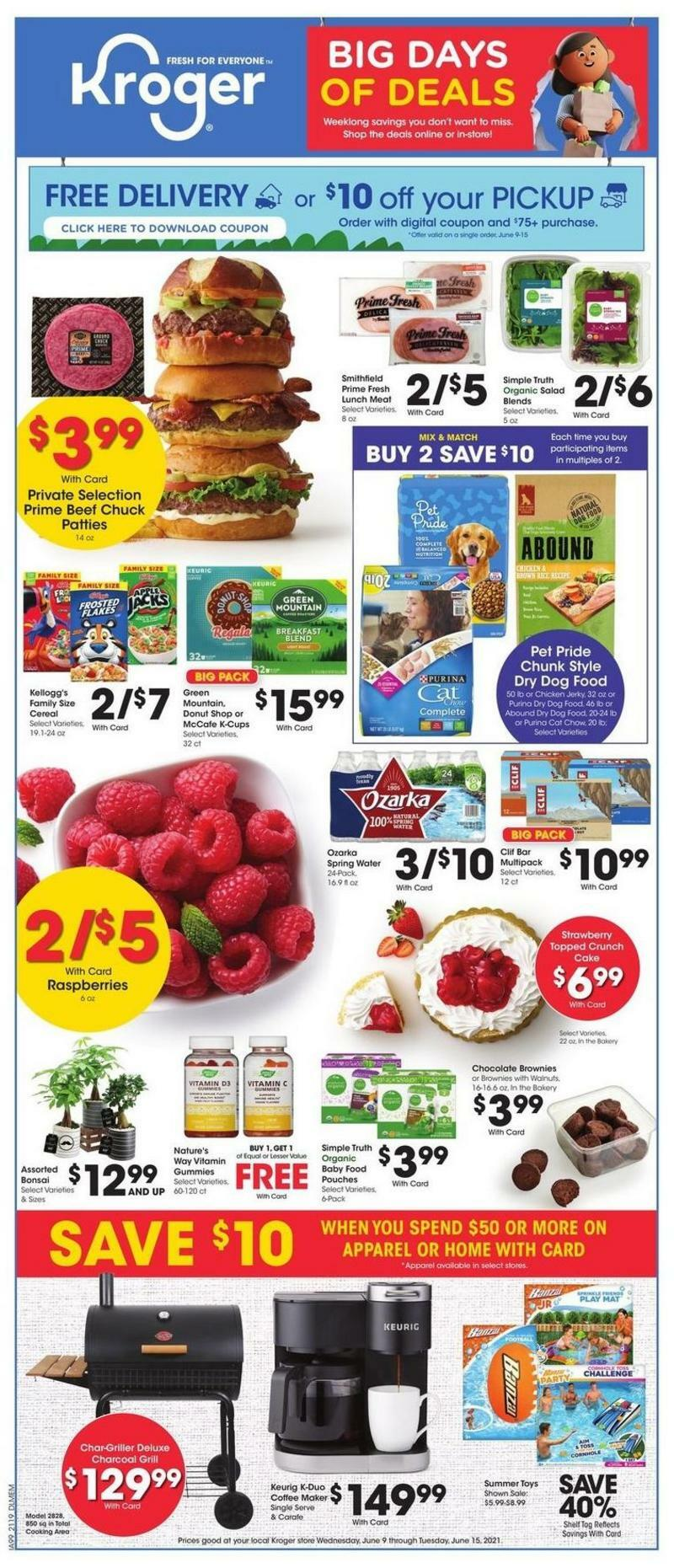Kroger Big Days of Deals Weekly Ad from June 9