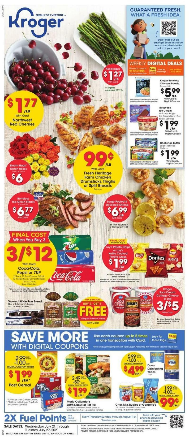 Kroger Weekly Ad from July 21