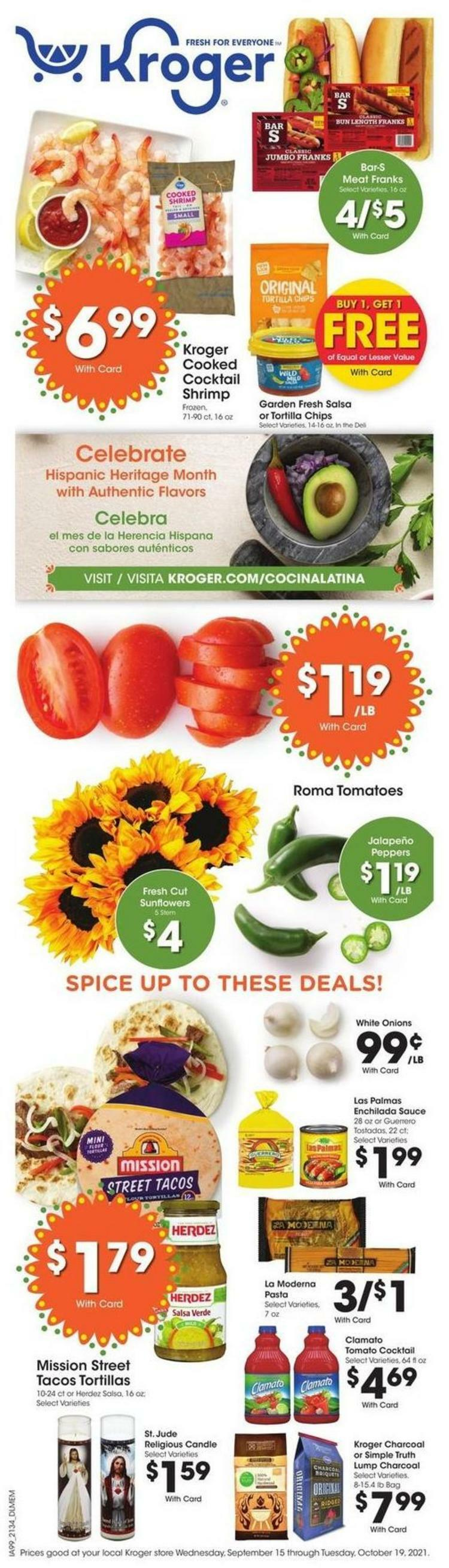 Kroger Weekly Ad from September 22