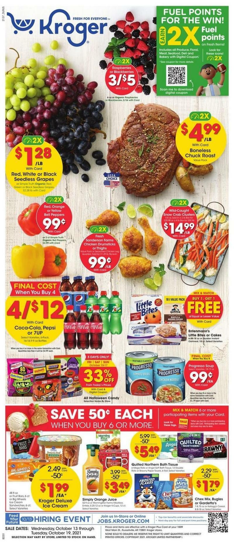 Kroger Weekly Ad from October 13