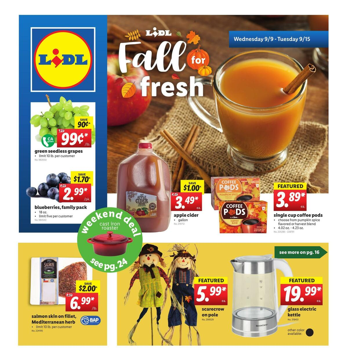 LIDL Weekly Ad from September 9