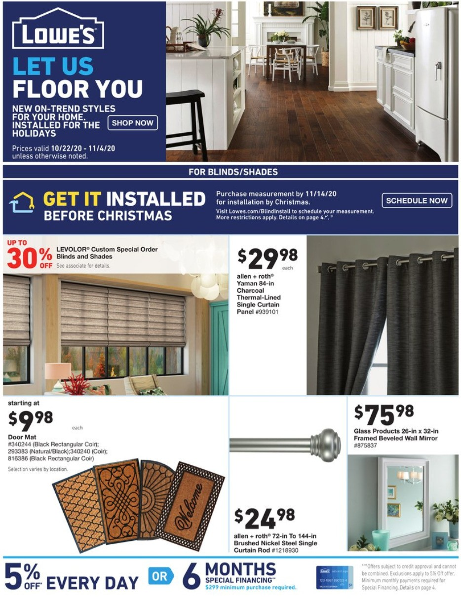 Lowe's Weekly Ad from October 22