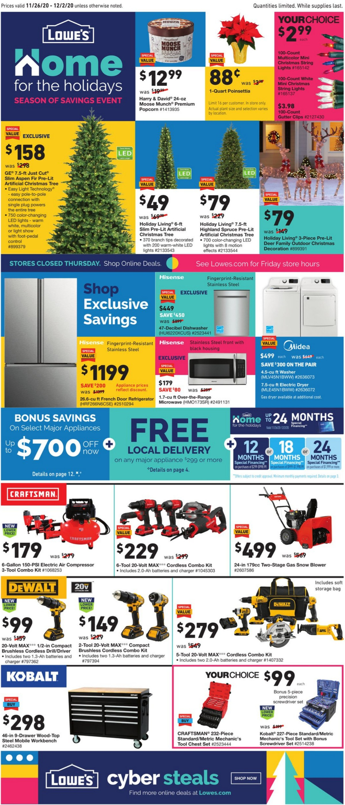 Lowe's Seasons of Savings Extended Event Weekly Ad from November 26
