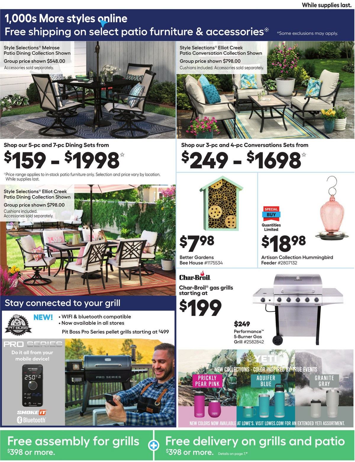 Lowe's Weekly Ad from April 29