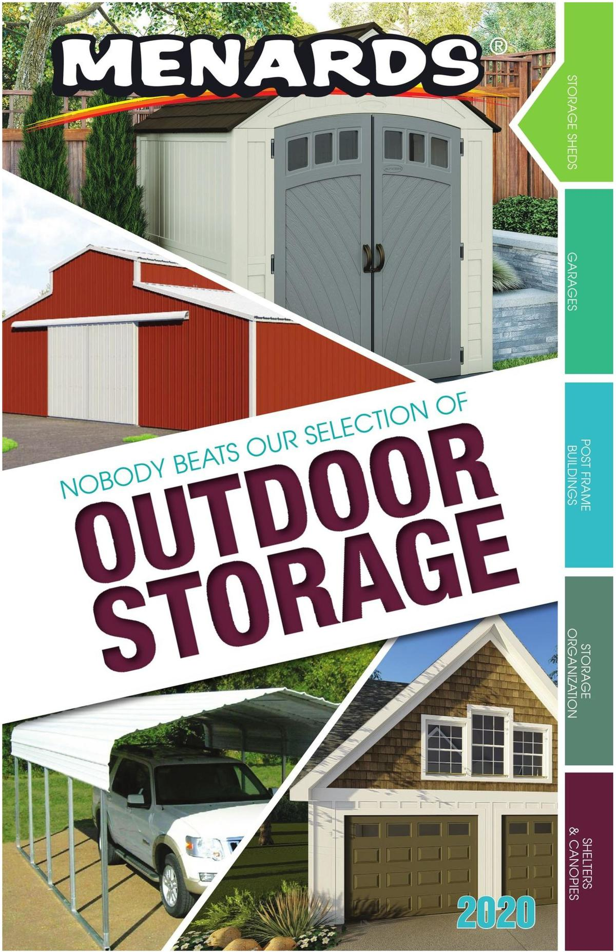 Menards Outdoor Storage Catalog Weekly Ad from August 1