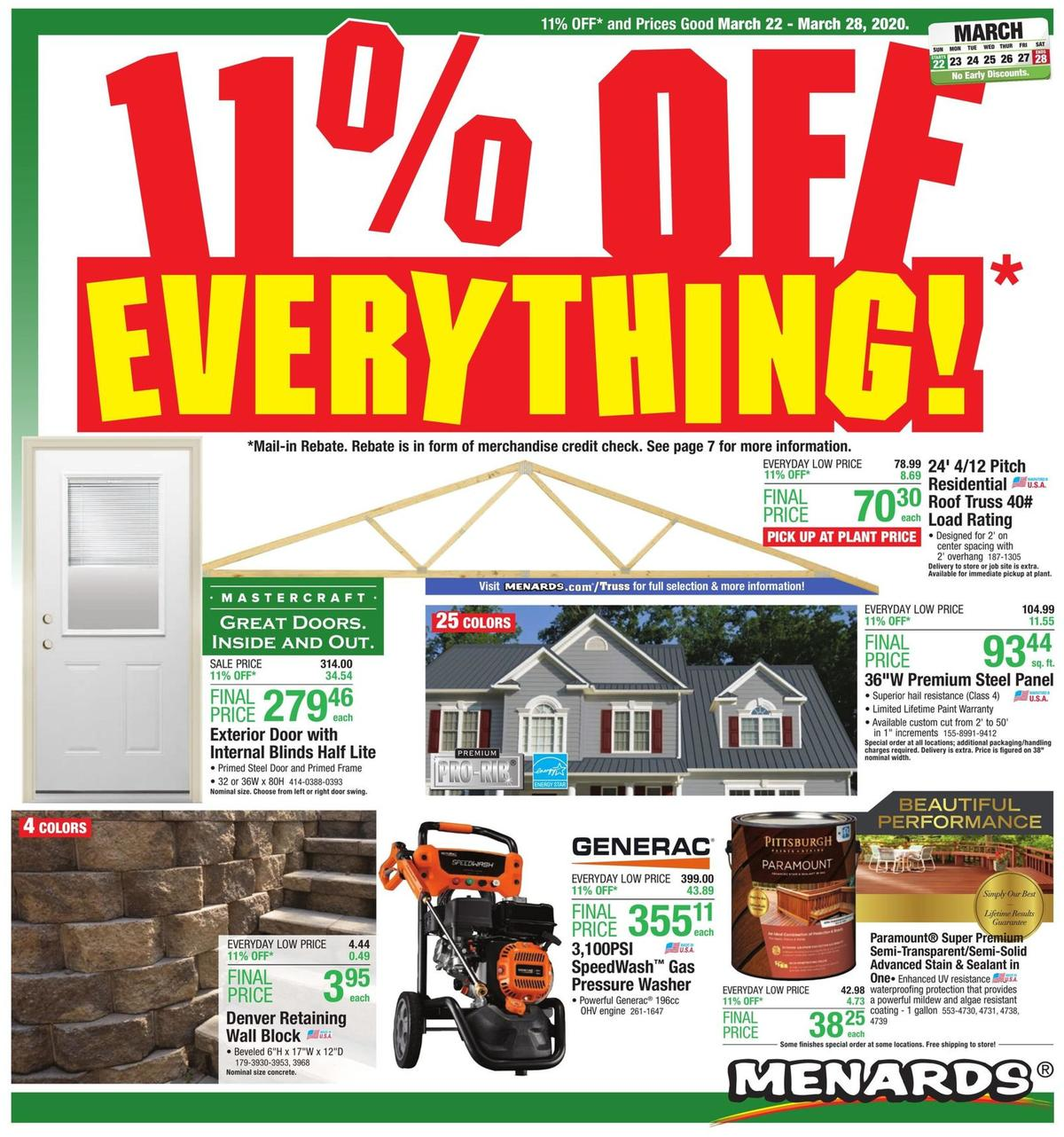 Menards Weekly Ad from March 22
