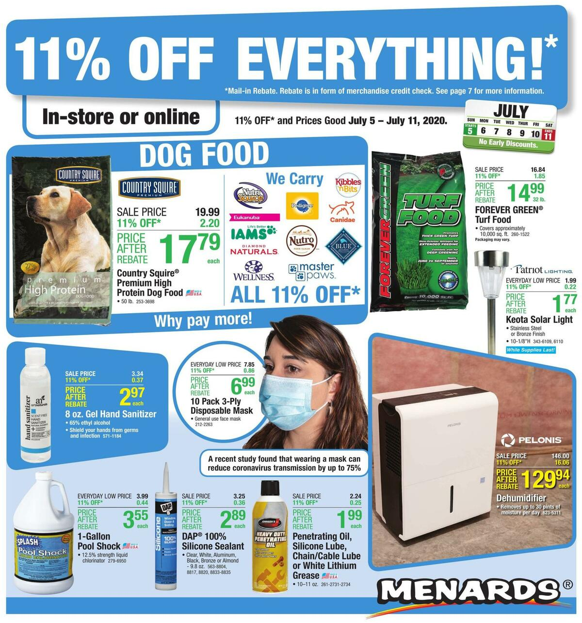 Menards Weekly Ad from July 5