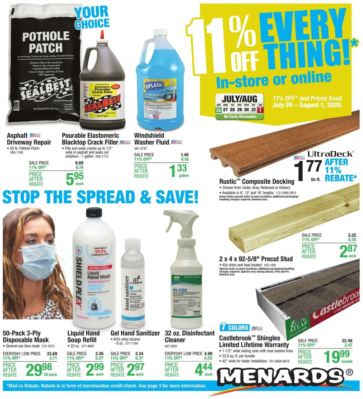 Menards Weekly Ad from July 26