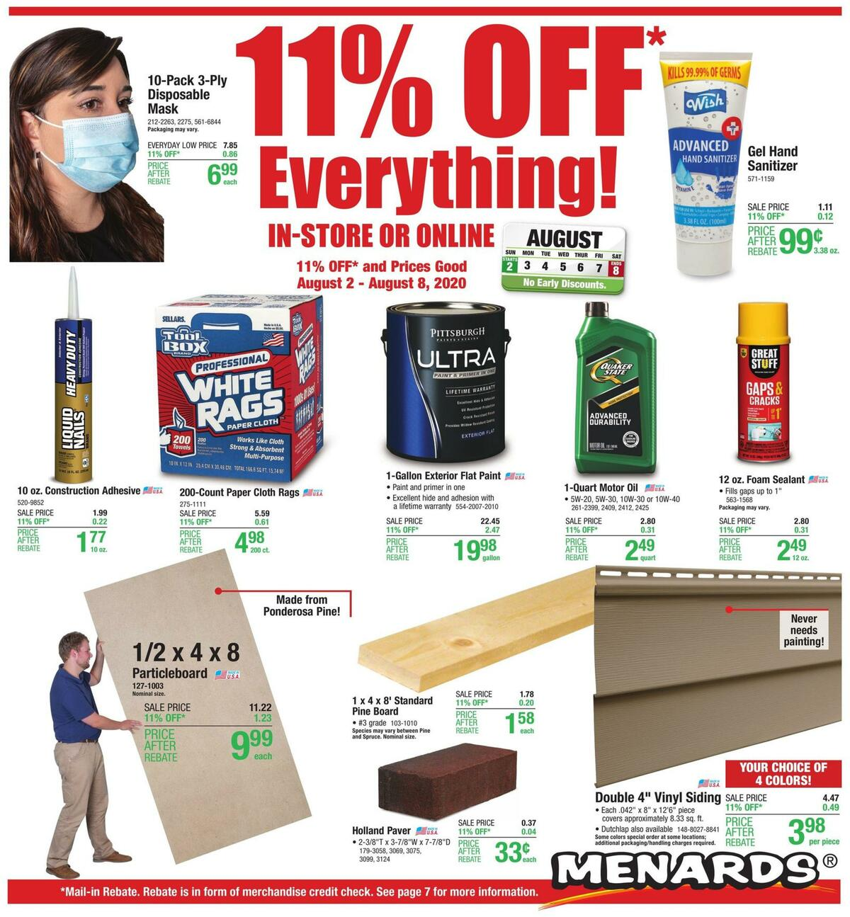 Menards Weekly Ad from August 2