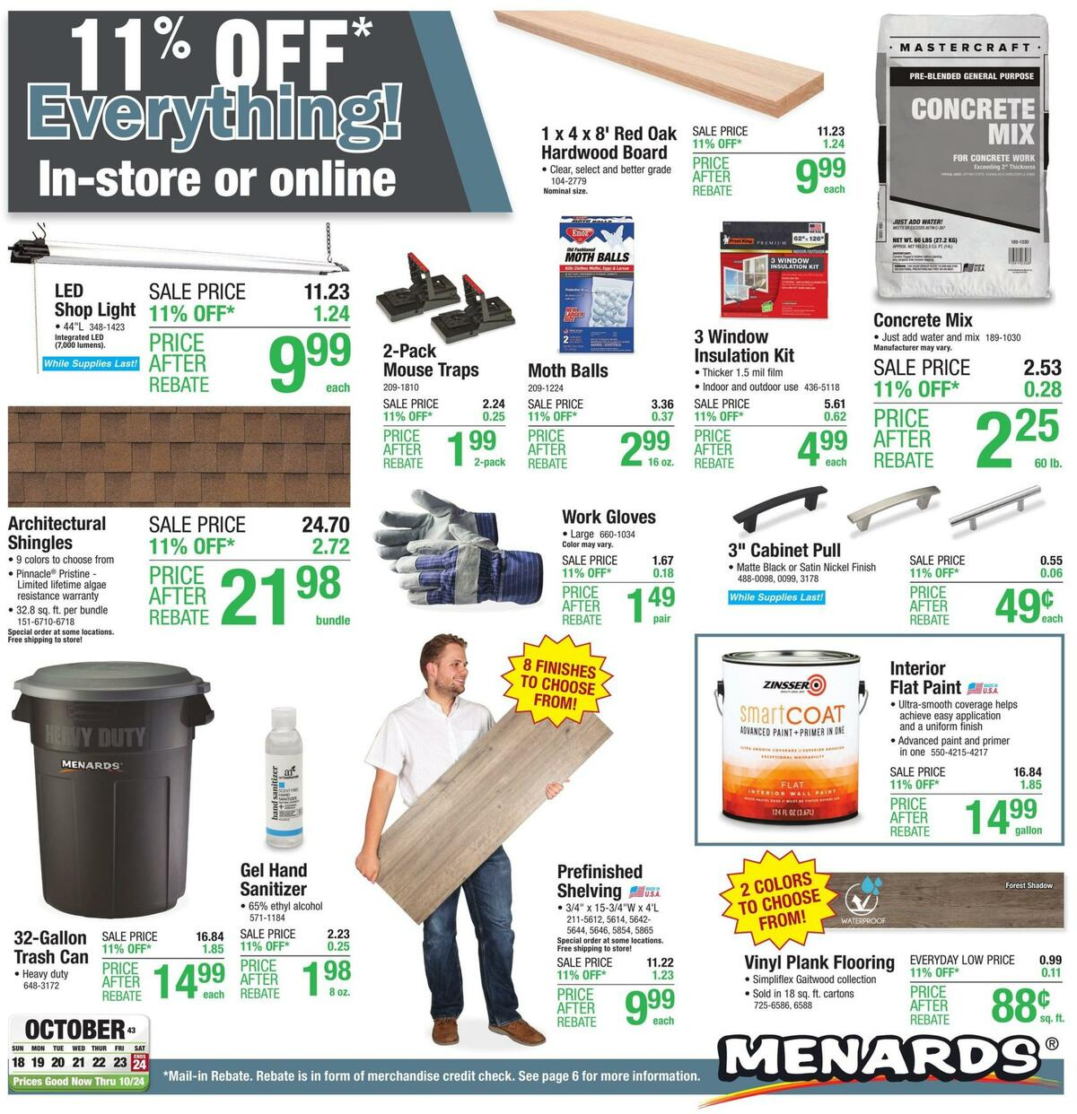 Menards Weekly Ad from October 18
