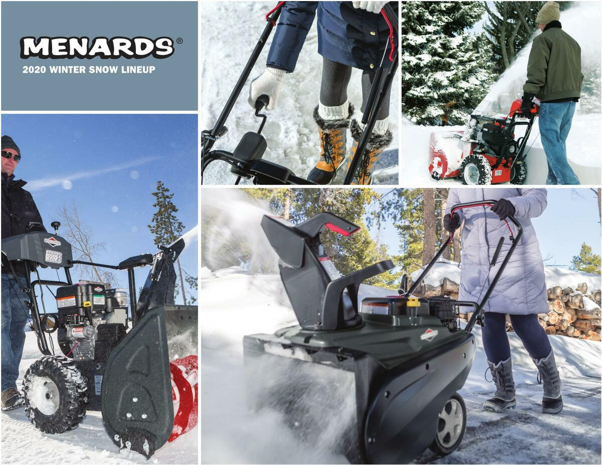Menards Winter Snow Lineup Weekly Ad from September 28
